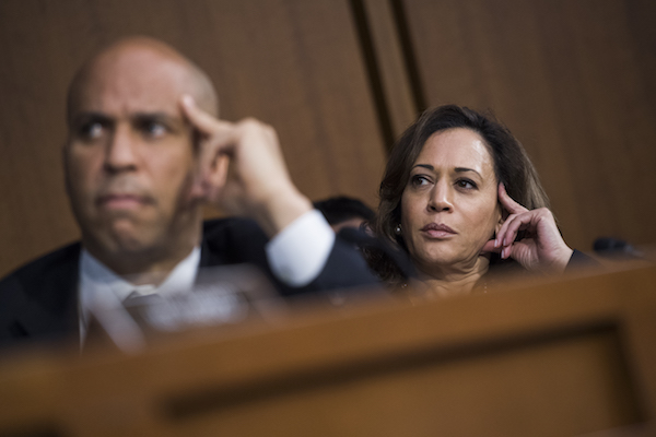 Cory Booker, Kamala Harris