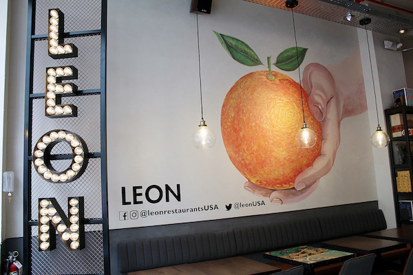 LEON, a new London-based restaurant in D.C., opened this month. (Brigette Squire/The Washington Informer)