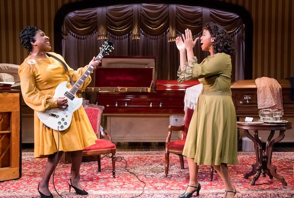 """Roz White as Sister Rosetta Tharpe and Ayana Reed as Marie Knight in the Mosaic Theater Company's production of """"Marie and Rosetta"""" (Courtesy of Mosaic Theater Company)"""