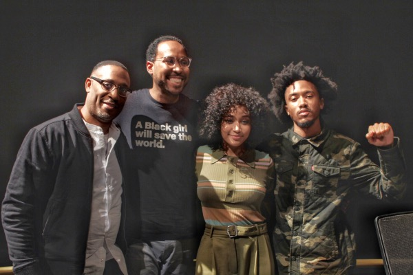 "From left: George Tillman, David Johns, Amandla Stenberg and Bobby Sessions participate in a panel discussion about the movie ""The Hate U Give"" with students at the Smithsonian in D.C. on Sept. 24. (Brigette Squire/The Washington Informer)"