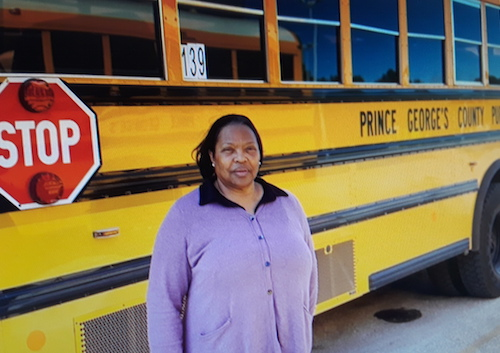 School bus attendant Linda Charles-Lynch has worked with students for nearly 10 years. (Courtesy of PGCPS)