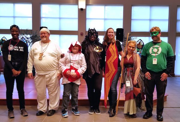 Participants take the stage at ΘeoCon for the Cosplay Walk. (Jacqueline Fuller/The Washington Informer)