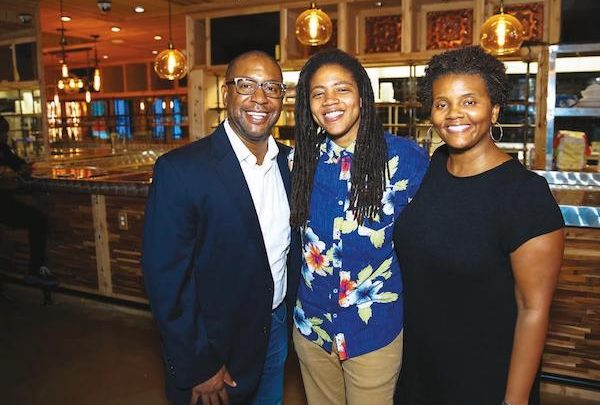 "From left: Chef Furard Tate, Andra ""AJ"" Johnson and Dr. Erinn Tucker, founders of DMV Black Restaurant Week"