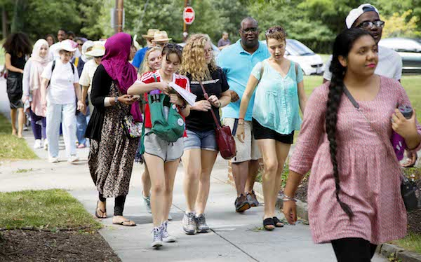 **FILE** Participants take part in the annual Unity Walk. (Courtesy of Interfaith Conference of Metropolitan Washington)