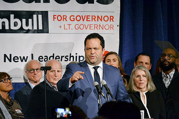 Maryland Democratic gubernatorial candidate Ben Jealous gives an election-night concession speech at the Hippodrome Theater in Baltimore on Nov. 6. (Brigette White/The Washington Informer)