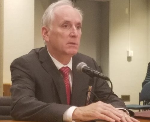 Metro General Manager Paul Wiedefeld briefs reporters after presenting a $3.4 billion budget proposal to the transit agency's board of directors at Metro's headquarters in D.C. on Nov. 1. (William J. Ford/The Washington Informer)