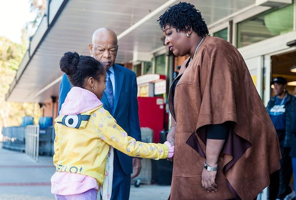 Georgia Democratic gubernatorial candidate Stacey Abrams campaigned with Rep. John Lewis (D-Ga.). (Courtesy photo)