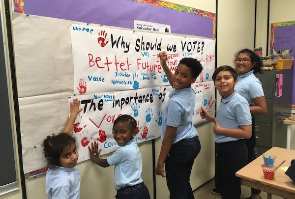 Students at Montpelier Elementary School held a mock election to learn about the voting process. (Courtesy of PGCPS)