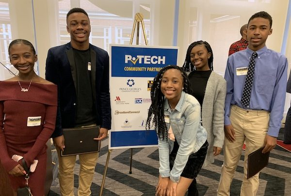 Now in its second year, P-TECH allows students to earn their high school diploma, college credits up to an associate's degree, and relevant work experience at no cost. (Courtesy of PGCPS)