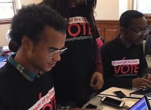 Photo of CBCF Staff, Interns Monitor Midterm Elections