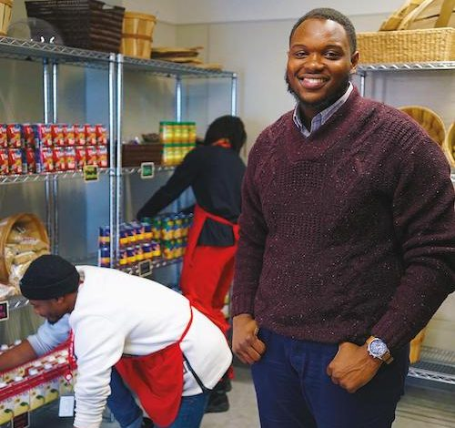 Jermarkus Booker, Donor Engagement Manager at Martha's Table (Lafayette Barnes IV/The Washington Informer)