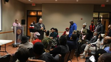 Residents of Ward 8 make their voices heard during a State of Southeast town hall meeting sponsored by the National Black United Fund at THEARC on Nov. 26. (Roy Lewis/The Washington Informer)