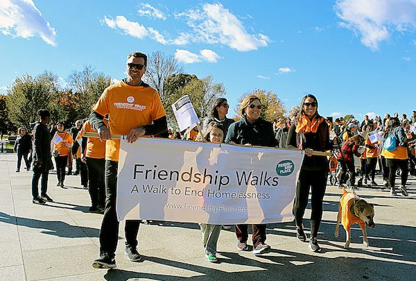 Hundreds participate in the 1.5-mile Friendship Walks event for homelessness, held around the National Mall on Nov. 3. (Brigette Squire/The Washington Informer)
