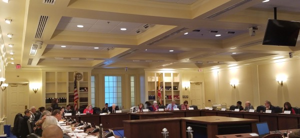 Members of the Maryland Commission on Innovation and Excellence in Education, also known as the Kirwan Commission, hold a meeting in Annapolis. (William J. Ford/The Washington Informer)