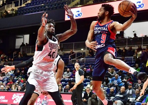 "The Capital City Go-Go holds its ""Go-Go'n Home for the Holidays"" during a Dec. 8 game against the Raptors 905 at St. Elizabeths Entertainment and Sports Complex in southeast D.C. (John E. De Freitas/The Washington Informer)"
