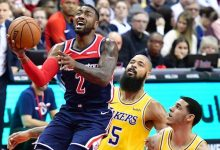 Photo of Wall Drops 40, Wizards Cruise Past Lakers
