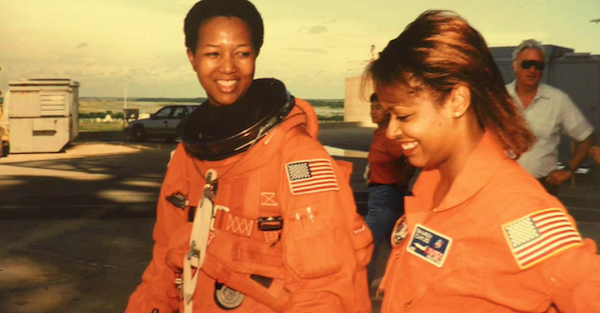 Sharon Caples McDougle (right) and Mae Jemison (Courtesy of NNPA Newswire)