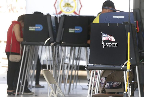 South Florida voters cast their ballots at a polling center in Miami on Nov. 6, 2018. (RHONA WISE/AFP/Getty Images)