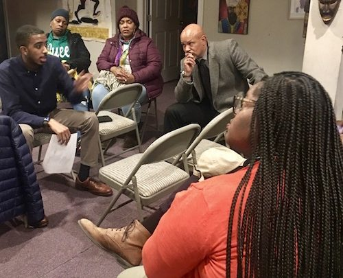 Ward 8 State Board of Education Representative Markus Batchelor (left) has encouraged parents to look beyond the STAR Rating System to determine the quality of their child's current or prospective school. (Courtesy photo)