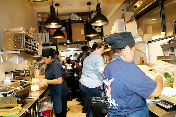D.C. restaurant workers seek more equitable wages. (Brigette White/The Washington Informer)