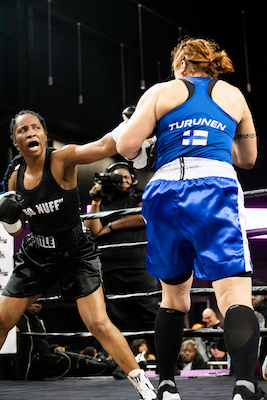 Female boxers tough it out. /WI photo