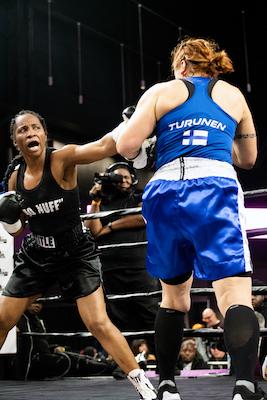 Female boxers tough it out. /WI photo