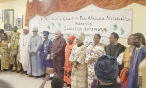 Members of the Leadership Council on Pan-African Nationalism (LCPAN) earlier this year (Courtesy of Oforiwa Sankofa)