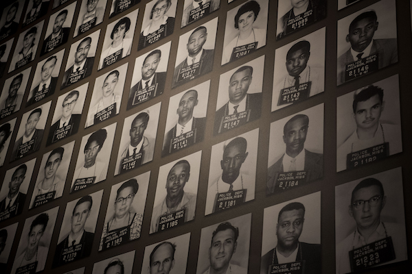 **FILE** A mural of Freedom Riders who were arrested in Jackson at the Mississippi Civil Rights Museum in Jackson, Mississippi on December 7, 2017. (Photo by Carolyn Van Houten/The Washington Post via Getty Images)