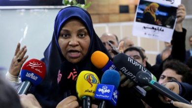 Journalist Marzieh Hashemi talks to the press as she arrives at Tehran Imam Khomeini International Airport in Tehran on Jan. 30, 2019. The U.S.-born journalist working for Iran's English-language television station Press TV returned to the Islamic Republic on Jan. 30 after she was arrested on arrival at St Louis Lambert International Airport on Jan. 13, according to family and friends cited by Press TV. (Photo ATTA KENARE/AFP/Getty Images)