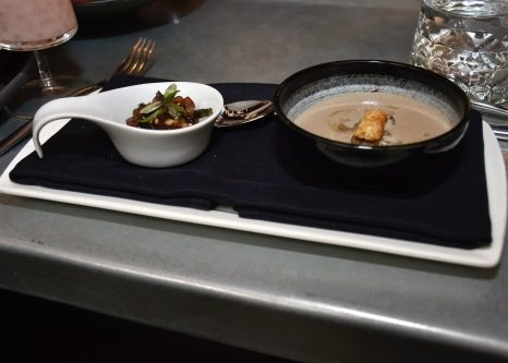 Mushroom soup served with poké tuna at Dirty Habit in the Penn Quarter/Chinatown area inside the Hotel Monaco, seen here on Jan. 8 (Robert Roberts/The Washington Informer)