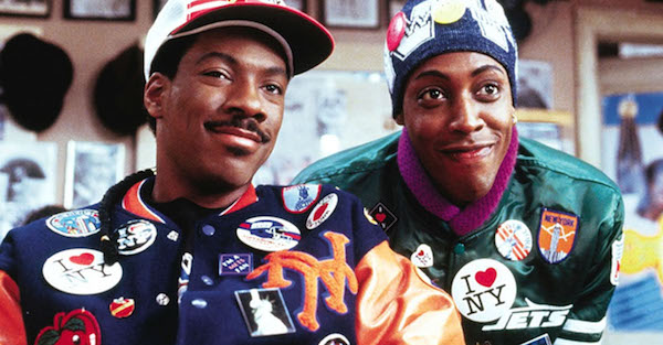 "Eddie Murphy (left) and Arsenio Hall star in 1988's ""Coming to America."" (NNPA Newswire)"