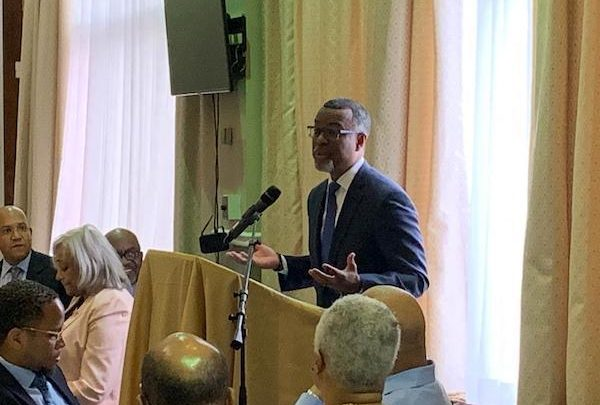 Eddie S. Glaude Jr., a professor and chair of the Department of Religion and African American studies at Princeton University, speaks during Shiloh Baptist Church's 28th annual Martin Luther King Jr. Prayer Breakfast in D.C. on Jan. 19. (Hamil R. Harris/The Washington Informer)