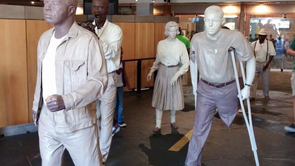 Wax marchers at the King Center in Atlanta (Shantella Y. Sherman/The Washington Informer)