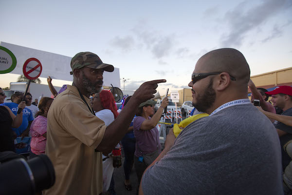 **FILE** Protesters confront each other outside the Broward County Supervisor of Elections office in Lauderhill, Florida, on Nov. 9, 2018 (Saul Martinez/Getty Images)