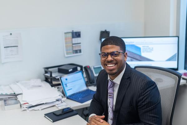 Cameron Webb, a 27-year-old commercial real estate broker (Photo by Jordan Barnes)