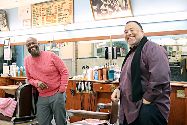 Marsten and Derek Davis, co-owners of Davis Barber and Beauty Service (Brigette White/The Washington Informer)
