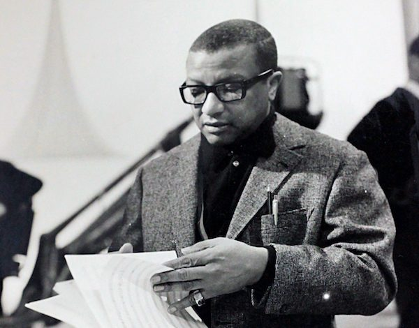 A photo of Billy Strayhorn from the Billy Strayhorn Collection on display at the Library of Congress (Courtesy of the Library of Congress)