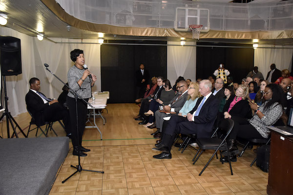 District of Columbia Democratic State Committee hosts an evening conversation with Mayor Muriel Bowser on January 3 at the Thurgood Marshall Center in northwest D.C. (Robert Roberts/The Washington Informer)