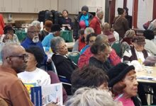 Attendees listen during a forum for senior citizens sponsored by the D.C. Department of Insurance, Securities and Banking at the Hattie Holmes Wellness Center in northwest D.C. on Feb. 7. (Courtesy of DISB)