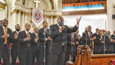 Photo of African-American Men Sing Praises