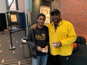 Darrell Godfrey and his son (Hamil R. Harris/The Washington Informer)