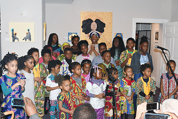 Young children learn the history of their ancestors.