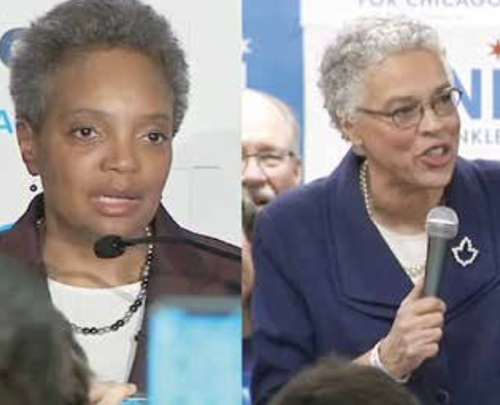 Lori Lightfoot (left) and Toni Preckwinkle will compete in a runoff for the Chicago mayoral election on April 2. (Photos courtesy)