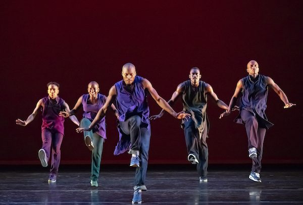 Dancers from Alvin Ailey in motion. (Courtesy of Alvin Ailey American Dance Theater)