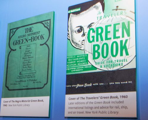 "A plaque representing the original ""Green Book"""