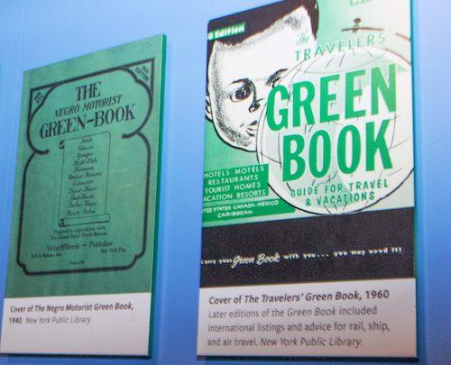 "A plaque representing the original ""Green Book"""