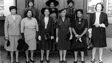 Zionette Circle, arm of the Women's Society, social club at Mount Zion United Methodist Church, in the 1940s (Courtesy of Mount Zion United Methodist Church Archives)