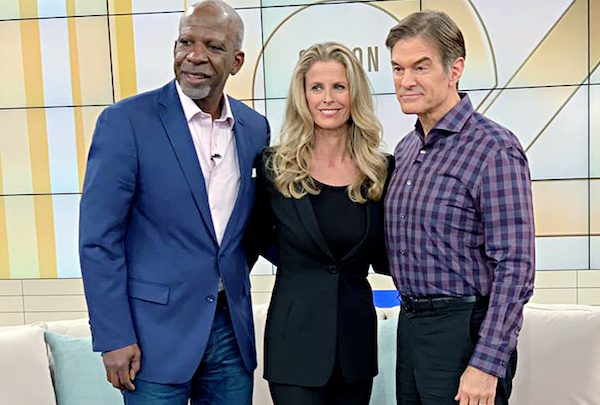 "Dan Gasby (left) with girlfriend Alexandra Lerner on ""The Dr. Oz Show"" (Dan Gasby via Facebook)"