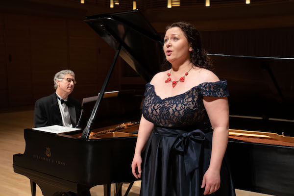 "Pianist Brian Ganz and Messo-Soprano Magdalena Wór perform Chopin's works in ""Recollections of Home"" at The Music Center at Strathmore on Feb. 2. (Courtesy of Jay Mallin)"