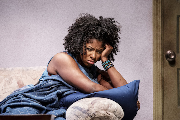 """Cyndii Johnson stars as Octavia in """"BLKS"""" at the Woolly Mammoth Theatre Company in D.C. on Feb. 8. (Teresa Castracane/Woolly Mammoth Theatre Company)"""
